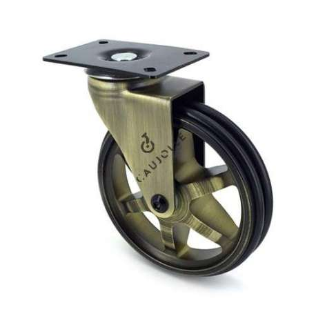 Retro design castor wheel GOLD'STYL 125P