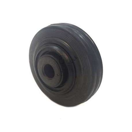 INDUSTRIAL USAGE RUBBER WHEEL 125 MM DIAMETER 20 MM BORE S2000PC