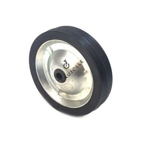 PLATE METAL AND RUBBER WHEEL 142 MM DIAMETER 12 MM BORE S7200