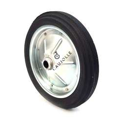 PUNCTURE-PROOF HARD RUBBER WHEELBARROW WHEEL WITH STEEL RIM 360MM DIAMETER 25 MM BORE S600