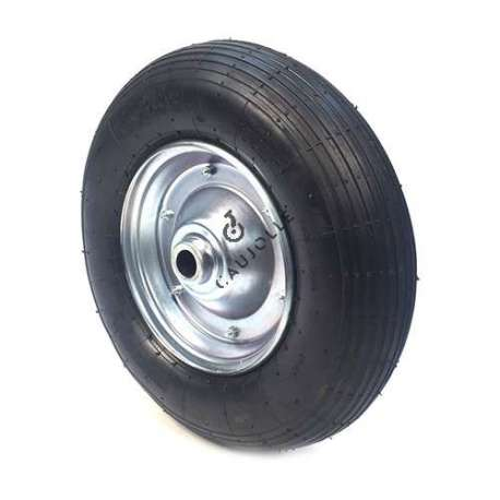 INFLATED WHEELBARROW WHEEL 400 MM DIAMETER 25 MM S1000R25