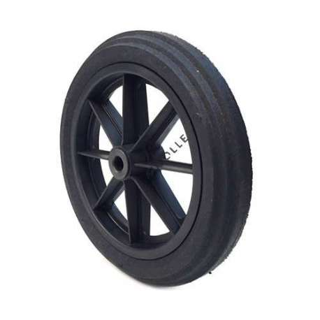 PUNCTURE-PROOF HARD RUBBER WHEELBARROW WHEEL 360 MM DIAMETER 20 MM BORE 74 MM LARGE R20-74