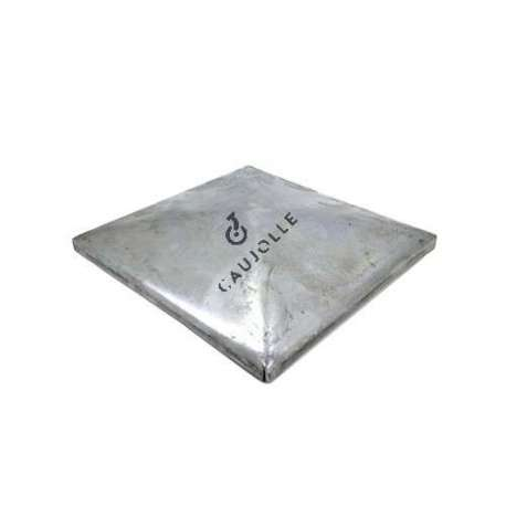 Square gate post cover in steel 150 1
