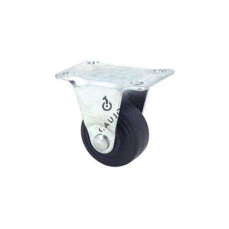 Castor wheel for furniture non-swivel plate 30 mm diameter 1