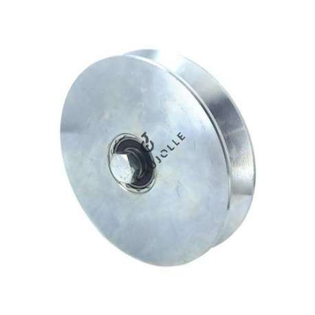 LARGE GROOVED DOOR ROLLER TRIANGULAR 160 MM DIAMETER