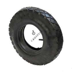 SET WHEELBARROW TURF TYRE + AIR CHAMBER 400 MM DIAMETER