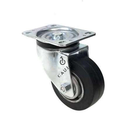 INDUSTRIAL USAGE CASTOR WHEEL REINFORCED RUBBER S76AS 125 MM DIAMETER