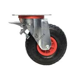 PNEUMATIC SWIVEL WHEEL 260 MM DIAMETER