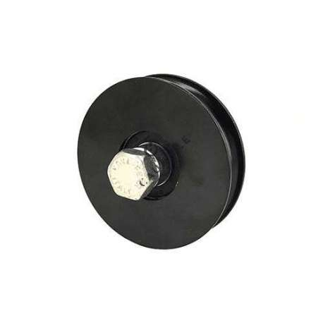 BLACK DOOR ROLLER WITH ROUND HORN 80 MM DIAMETER