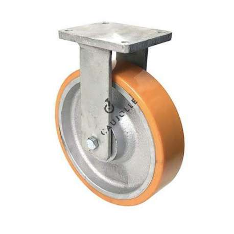 FIXED CAST IRON AND POLYURETHANE CASTER MAX WEIGHT 2000 KG DIAMETER 300 MM - STEC 300FIXE