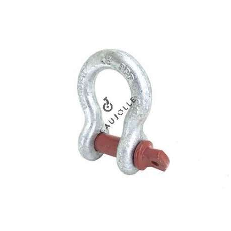 HIGH RESISTANCE BOW SHACKLE WITH 16 MM THREADED PIN 2000 KG LOAD