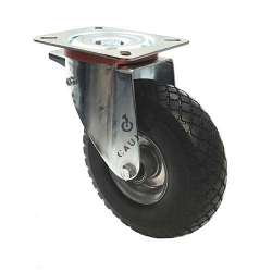 SUPPLE PUNCTURE-PROOF ALL-SURFACE CASTOR WITH BRAKE DIAMETER 260 MM