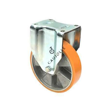 Fixed-position castor wheel polyurethane aluminium rim with brake 200 mm diameter load 800KG - S79AR 200