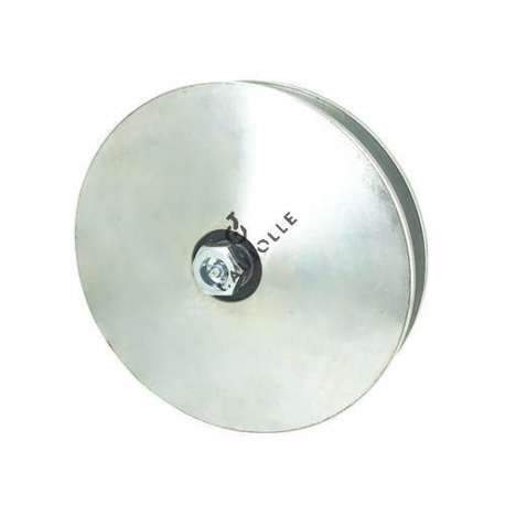 WIDEDOOR/GATE ROLLER WHEEL WITH SQUARE GROOVE 160 MM DIAMETER FOR 21 MM SQUARE RAIL600 KG MAX LOAD 16 MM BORE