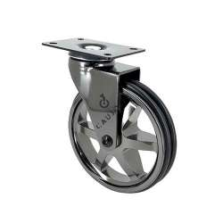 ROULETTE DESIGN CHROMÉ DIAMÈTRE 125MM CHARGE 70KG - BLACK NICKEL 125P