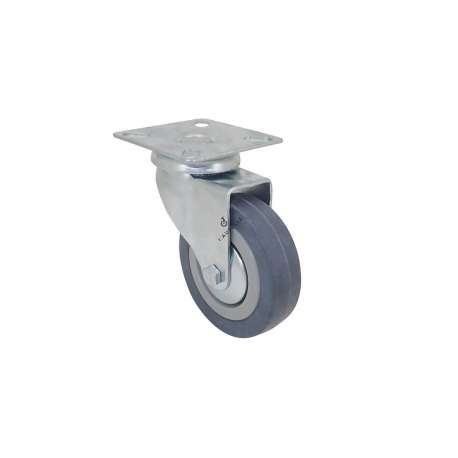 Community castor wheel in rubber with plate 80 mm diameter S14
