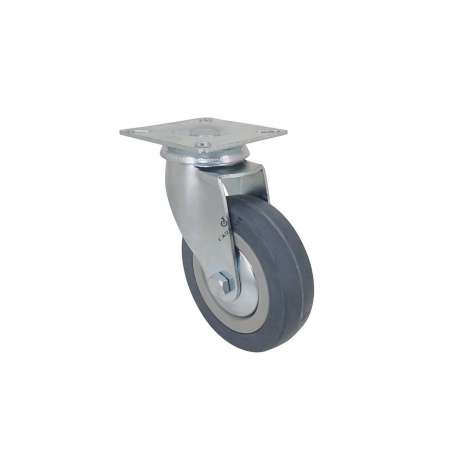 ROULETTE DE COLLECTIVITE EN CAOUTCHOUC SOUPLE NON TACHANT DIAMÈTRE 100 MM CHARGE 45 KG - S14 100